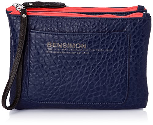 Bensimon Mini Bag Fancy Leather, Damen Handgelenkstaschen, Blau (Bleu (Marine 516)), onesize