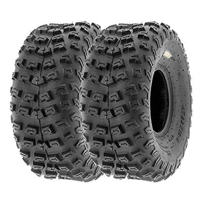 SunF Rear ATV Dimple Knobby Tires 22 2 PR A030 (Set pair of 2)