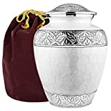 GIVE YOUR LOVED ONE THE QUALITY THEY DESERVE - When you've lost someone close you need a high quality urn to hold their ashes and act as a fitting tribute to the love you shared. This beautiful solid cremation urn is handcrafted and engraved to give ...