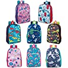 24 Packs of Wholesale Boys & Girls Character and Animal Backpacks with Adjustable, Padded Back Straps in Bulk Bundles (Mix)