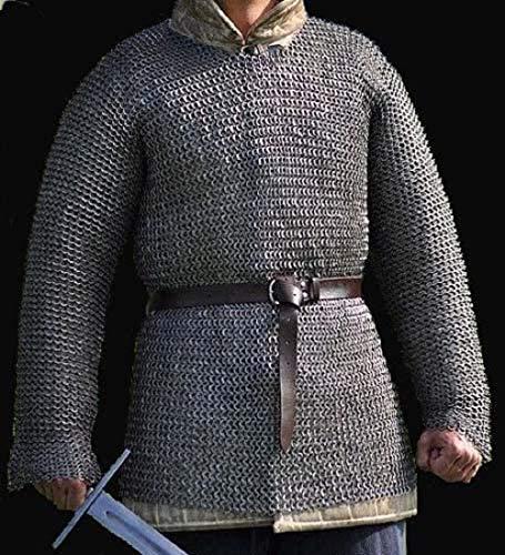 antiquegifts2019 - Armadura para Camisa de Correo, 10 mm, remachada con arandela, Armadura Medieval, Large