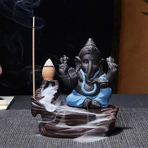 Gartendekorationen für Zaun Weihrauchbrenner India Elephant God Ganesha Backflow Weihrauchbrenner Räuchergefäßhalter Raumdekoration Geschenk Handgemachte Aromatherapie Home Decor (Farbe: # 1, Größe: