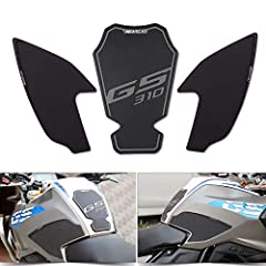 Our knee grip is optimized for the shape of the fuel tank for BMW G310GS, looks great with your bike. It gives you stable and sporty ride with easy and efficient knee grip on the bike. Made of NBR (Industrial rubber) With our's high quality and preci...