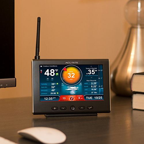 AcuRite 01024M Pro Weather Station with HD Display, Lightning Detector, Rain, Wind, Temperature and Humidity