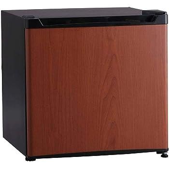 アイリスプラザ 1ドア 冷蔵庫 46L 木目調 ダークウッド PRC-B051D-M