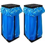 2x Deuba Müllsackständer für Müllsäcke bis max. 60 LITER 3-fach höhenverstellbar - Müllsackhalter Abfallbehälter Müllbeutelhalter -