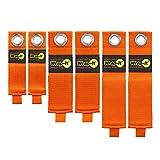 Heavy-Duty Wrap-It Storage Straps (Assorted 6-Pack), Blaze Orange - Hook and Loop Extension Cord Organizer for Garage Storage and Organization