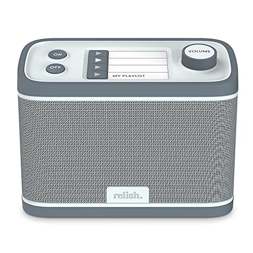 New Relish Dementia and Alzheimer's Portable Radio and Music Player, Unique Personalization to Bring Music to Those with Dementia, DAB and FM Radio, USB Port, Designed for Those with Dementia