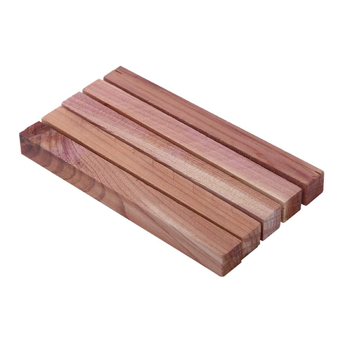 抹消尾おもしろいOUNONA 天然防虫剤 レッドシダー 天然杉ウッド 防虫 除湿 脱臭 ワードローブ/クローゼット/引き出しなど用 5個入り