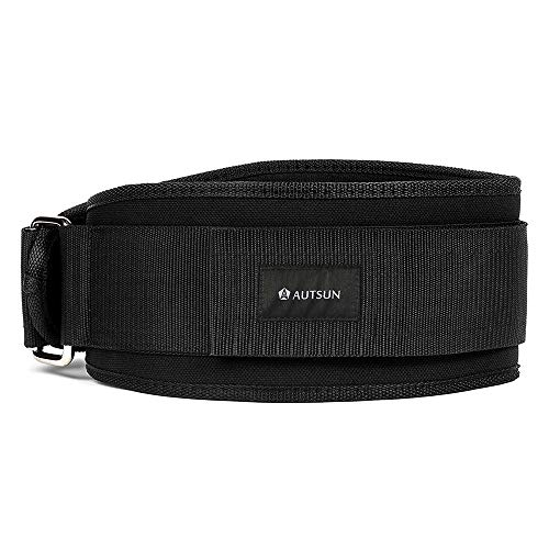 AUTSUN Nylon Weight Lifting Workout Belt- for Cross Training Weightlifting, Powerlifting, Gym, Squats, Deadlifts - Firm & Comfortable Lumbar Support (Large(36-43 inches))