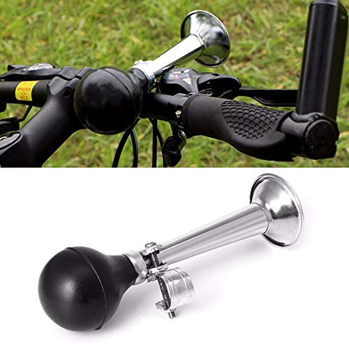 Bicycle Air Horn Loud for Adults and Kids, Traditional Bike Horn with Screw Attachment for most bicycles, recreational vehicles, mountain bikes, motorcycles - Black