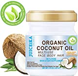 100% PURE ORGANIC COCONUT OIL. EXTRA VIRGIN/UNREFINED COLD PRESSED. 100% Pure Moisture for FACE, BODY, HANDS, FEET, MASSAGE, NAILS & HAIR and LIP CARE. 7.75 OZ (225 ml)