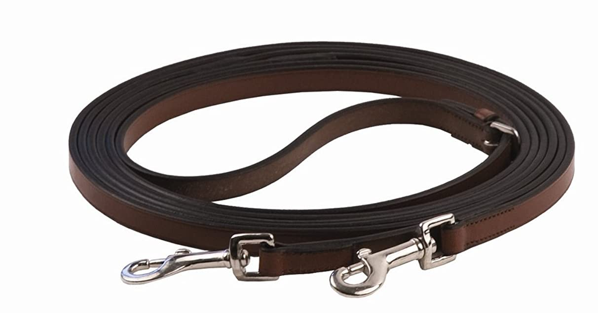 Henri de Rivel Breastplate Draw Reins - Full Leather with Breastplate Snap