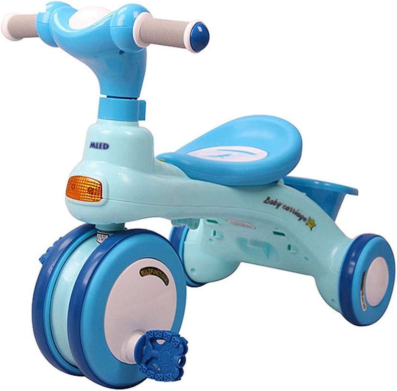 Xing Hua Home Kinder Dreirad Im Freien Knchelfahrrad Für Kinder Hause Kinderwagen 1-3-5 Jahre Altes Kinderauto Mit Ablagekorb (Farbe   Blau-A)