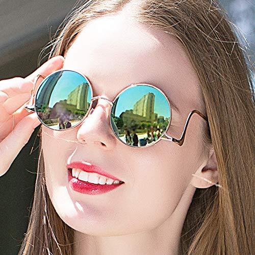 N/A Gafas de Sol para Hombre Gafas de Sol para Mujer Retro literaria Fan de Lujo Arco exagerada Gafas de Sol de Mujer piernas dobladas Gafas de Sol