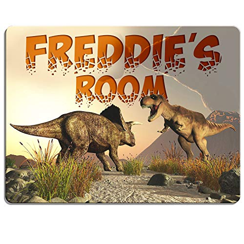KRAFTYGIFTS DINOSAUR Boys Bedroom Door Sign Personalised T Rex Children's Child...