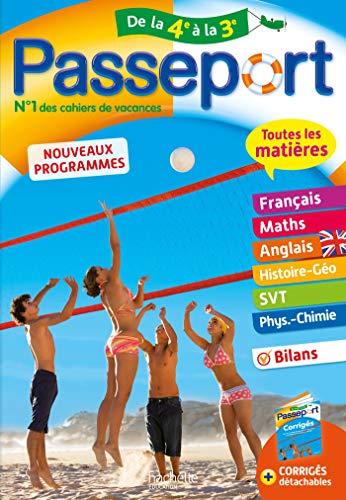 Passeport Cahier de Vacances 2020 - Toutes les matières de la 4e vers la 3e