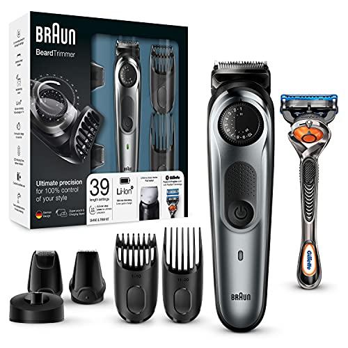 Braun beard trimmer and hair trimmer bt7040, 39 length settings, stainless steel trimmer head