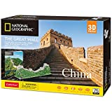 CubicFun National Geographic 3D Puzzles for Adults and Kids The Great Wall of China Model Kits, Birthday Gifts for Women and Men, World Heritage Site with Booklet 75 Pieces