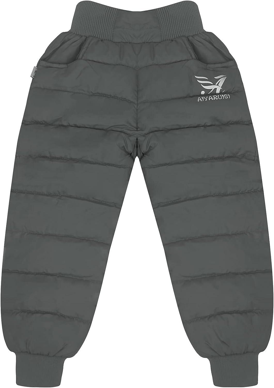 Happy Cherry Baby Boys Girl Waterproof Down Pants Cozy-Dry Winter Snow Fleece-Lined Trousers
