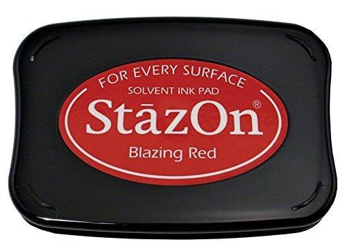 Tsukineko Stazon Stempelkissen, rot von Tsukineko