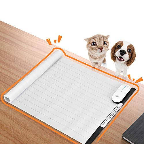 Pet Shock Mat, 30 x 16 Inches Pet Training Mat for Dogs and Cats, 3 Training Mode Shock Mat for Cats Dogs, Indoor Use Pet Training Pad with LED Indicator, Flexible Mat, Long Battery Life