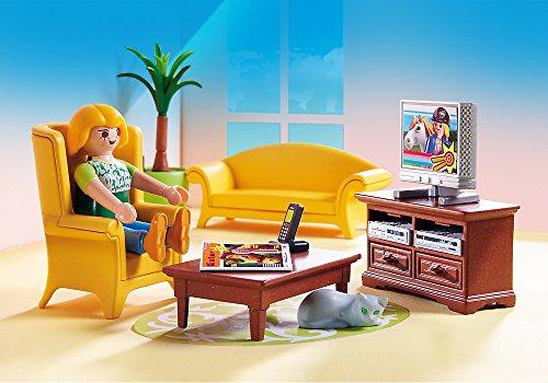 Ensemble Salon avec Foyer au Bois Playmobil - 5308 - 4