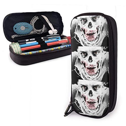QQIAEJIA Estuche para lápices Zombie Estuche para bolígrafos con soporte de cremallera doble para adolescentes, niñas, niños, escuela, adultos, personalización personalizada Estuche para lápices lin
