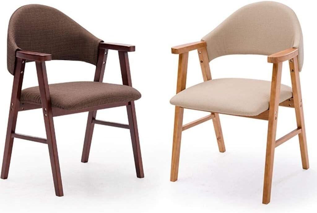 GSN Salle à manger chaise, chaise de cuisine en bois massif avec accoudoirs, chaise dDining tissu, chaise longue d'étude, escabeau à domicile fauteuils (Color : 6) 5