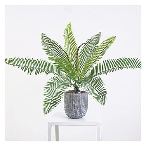 WWWL Künstliche Pflanze Tropische künstliche Palme Große gefälschte Cycas Pflanzen Zweig Kunststoff Palm Blätter Topfpflanzen für Heimbüro Dekoration