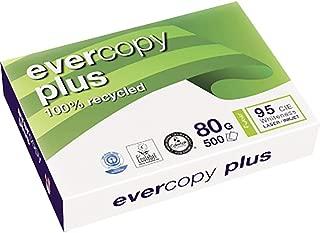 Clairefontaine Evercopy+ CIE95: paquete de 500 hojas A4,80g, papel reciclado de color blanco