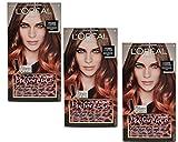 3x Loreal Preference Ombre Copper zum Einbürsten, Coloriert Haarlängen 174ml