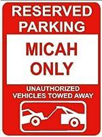 金属錫サインインチ、ミカのみ予約駐車場、公園サイン公園ガイドABC警告サイン私有財産のための金属屋外危険サイン
