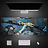 Alfombrilla de ratón CSGO Counter Strike con Bloqueo de Gran tamaño, Alfombrilla de Escritorio para Ordenador portátil, periférico para Juegos, Deportes electrónicos especiales-Package03||900x400x3mm