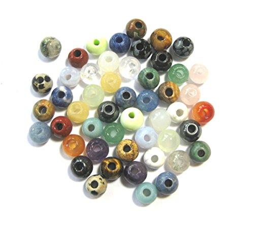 50 unidades piedrapreciosa-bolas ca 8 mm perlas seguidores einhnger intercambio parte joyería cadena peonías Feng Shui amor piedra poder prosperidad Talisman Glcksbringer A + + calidad