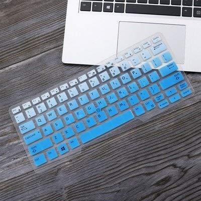 Durable keyboard stickers Laptop Keyboard Cover Protector Skin for 14' Dell Latitude 5450 3340 7480 7490 5490 5491 E5450 E5470 E7450 E7490 E5490 Keyboard accessories (Color : GradualBlue)