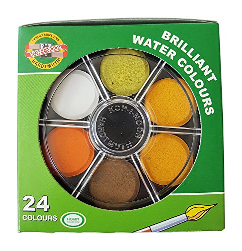 Koh-I-Noor Watercolor Wheel Stack Pack set of 24 (Anilinky Brilliant 24 colors)