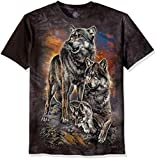 The Mountain Unisex-Erwachsene Wolf Family Sunrise T-Shirt, grau, XX-Large