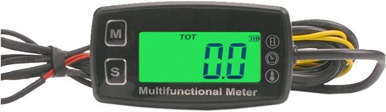 Engine Hour Meter Thermometer Meter Temperature Inductive Tachometer Gauge Backlit Digital Resettable for 2/4 Stroke Engines Motorcycle Marine Glider ATV Snow Blower Lawn Mower Jet Ski Pit Bike