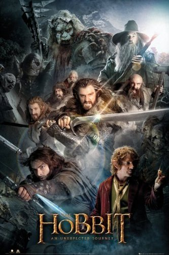 AMBROSIANA Poster (46c) The Hobbit Collage