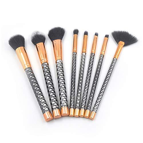 Pinceau de maquillage portable Léger et portable 8 en 1 poignée en nid d'abeille de maquillage multi-fonctionnelle Brosse for les femmes (Color : Color1)