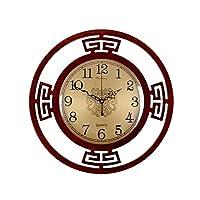 YJDQGZ 壁時計、 木製 ミュート 自動タイミング 中国語 水晶壁時計、 壁掛け式 立体的な ホロー パターン 家庭 リビングルーム 寝室 懐中時計 防錆/A / 400x400mm