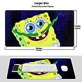 Sea Spongebob Gaming Mouse Pad Desk Pad Ideal for Both Gaming