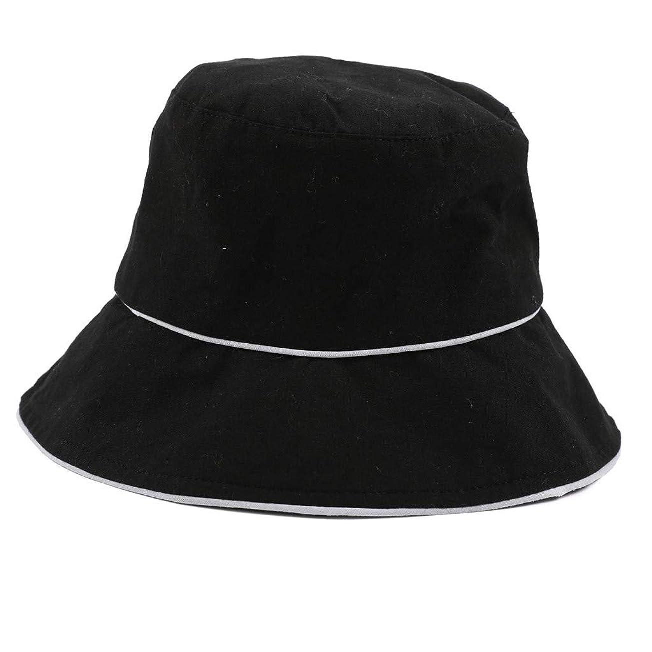 墓地事実上心理的ROSE ROMAN - 帽子 レディース uv 漁師の帽子 99%uvカット 小顔効果抜群 帽子 サイズ調整 テープ キャップ 黒 漁師帽 おしゃれ 可愛い ハット 折りたたみ 紫外線対策 ファッション ワイルド カジュアル リゾート 旅行