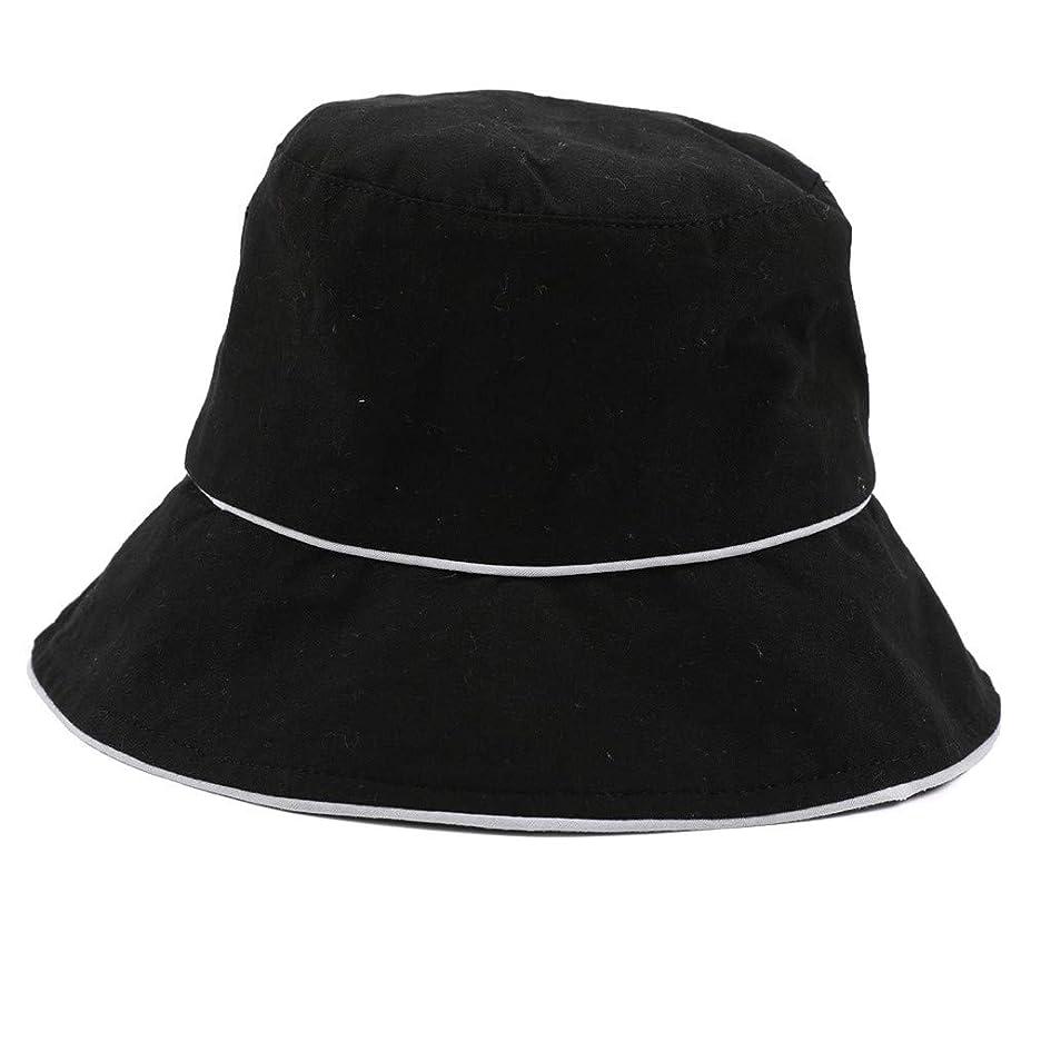 スライム海里部分的にROSE ROMAN - 帽子 レディース uv 漁師の帽子 99%uvカット 小顔効果抜群 帽子 サイズ調整 テープ キャップ 黒 漁師帽 おしゃれ 可愛い ハット 折りたたみ 紫外線対策 ファッション ワイルド カジュアル リゾート 旅行