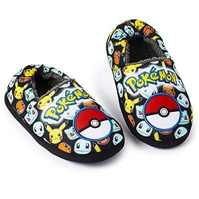 Pokemon Zapatillas de Casa Niños con Estampado Personajes Pikachu Charmander Squirtle, Pantuflas para Estar en Casa Invierno Suela Antideslizante, Regalos Pokemon para Niños Niñas (28 EU) por