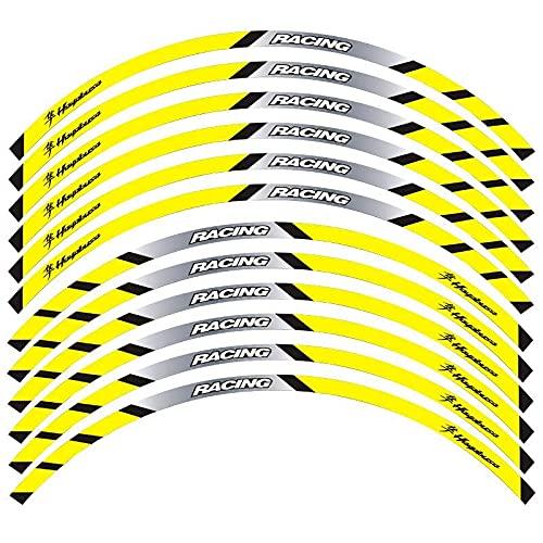 Calcomanía Reflectante Adhesiva para Llanta De Rueda De Carreras De Motocicleta para S-UZUKI Hayabusa GSX1300R Gsxr 1300 Gsx 1300r (Color : 11)
