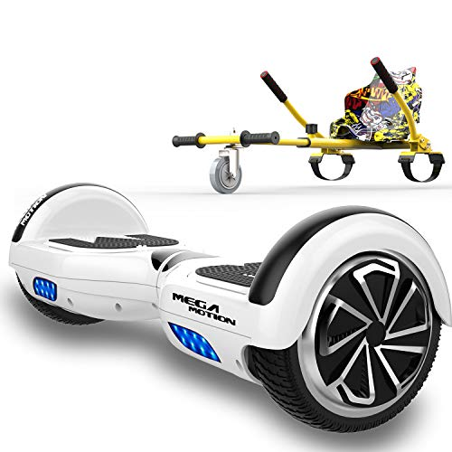 SOUTHERN-WOLF Self-Balancing Scooter, Hoverboard 6,5zoll Hover Scooter Board Bluetooth Scooter mit bunten Lichter Bluetooth eingebaute Geschenk für z29 (Hip-hop)