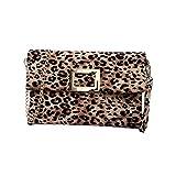 TENDYCOCO borsa a tracolla da donna con stampa leopardata busta pochette borsa a tracolla borsa a tracolla per ragazze-cachi