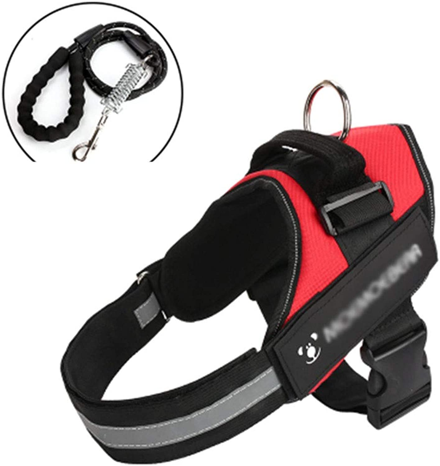 Dog Chest Strap Medium and Large Dogs ExplosionProof Traction Rope Pet Supplies Dog Chain (color   RED, Size   XL)